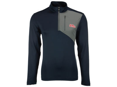 Ole Miss Rebels Cutter & Buck NCAA Men's Shaw Hybrid Half Zip Pullover