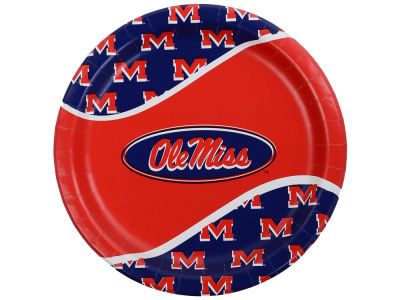 Ole Miss Rebels 8-pack 9inch Dinner Plates