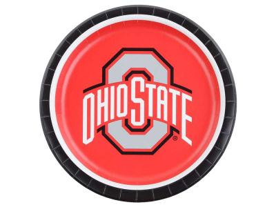 Ohio State Buckeyes 8-pack 9inch Dinner Plates