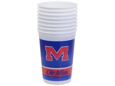 Ole Miss Rebels 8-pack 20oz Plastic Cups