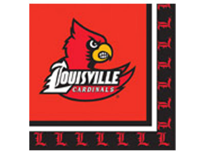 Louisville Cardinals 16-pack Luncheon Napkins