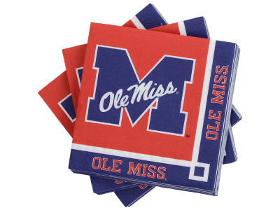 Ole Miss Rebels 16-pack Beverage Napkins