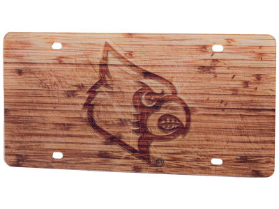 Louisville Cardinals Wood Plate