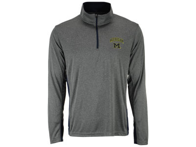 Michigan Wolverines Colosseum NCAA Men's Ridge Runner 1/4 Zip Pullover