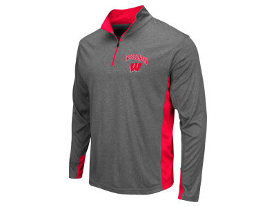 Wisconsin Badgers Colosseum NCAA Men's Ridge Runner 1/4 Zip Pullover