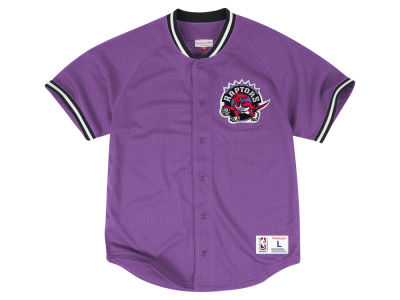 Toronto Raptors Mitchell & Ness NBA Men's Seasoned Pro Mesh Button Front Jersey