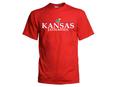 Kansas Jayhawks 2 for $28  NCAA Men's Line Stack T-Shirt