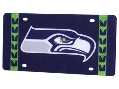 Seattle Seahawks Jersey Pant Stripe License Plate