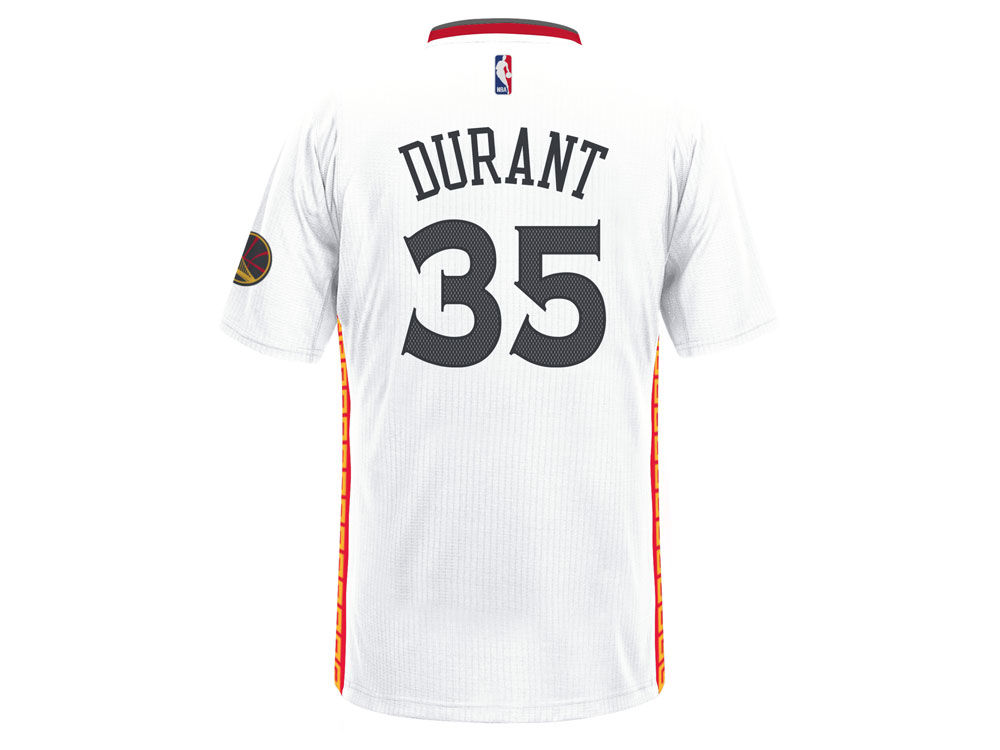 golden state warriors kevin durant adidas nba mens chinese new year swingman jersey - Warriors Chinese New Year Jersey