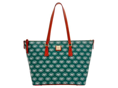 New York Jets Dooney & Bourke Zip Top Shopper