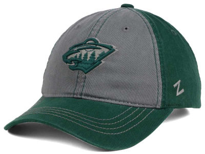 Minnesota Wild Zephyr NHL Storm Front Easy Adjustable Cap