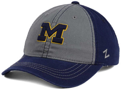 Michigan Wolverines Zephyr NCAA Storm Front Easy Adjustable Cap