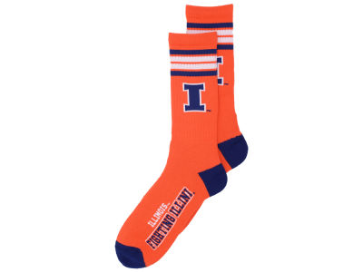 Illinois Fighting Illini 4 Stripe Deuce Crew 504 Sock