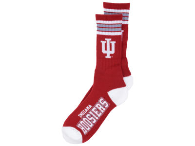 Indiana Hoosiers For Bare Feet 4 Stripe Deuce Crew 504 Sock
