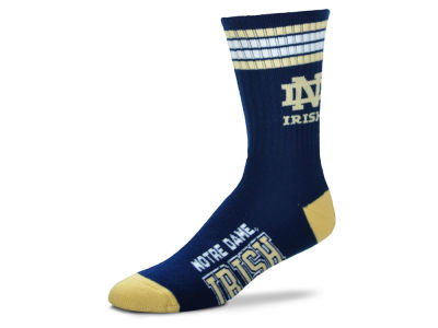 Notre Dame Fighting Irish For Bare Feet 4 Stripe Deuce Crew 504 Sock