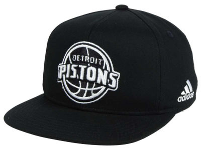 Detroit Pistons Outerstuff NBA Kids Black and White Snapback Cap