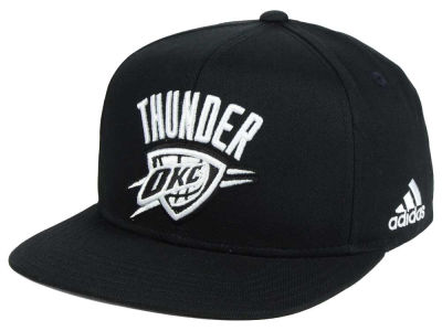 Oklahoma City Thunder Outerstuff NBA Kids Black and White Snapback Cap