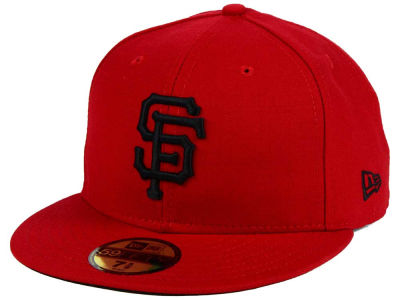 San Francisco Giants MLB Red Black Chase 59FIFTY Cap