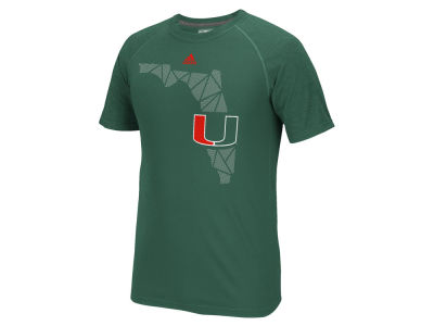Miami Hurricanes adidas NCAA Men's Geometric Flow T-Shirt