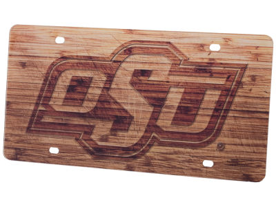 Oklahoma State Cowboys Wood Plate