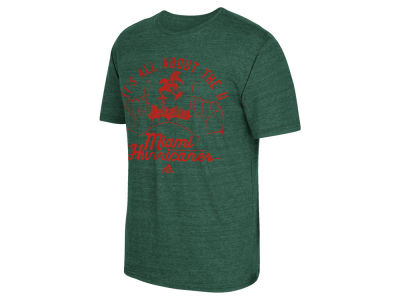 Miami Hurricanes adidas NCAA Men's Traditional Tri-Blend T-Shirt