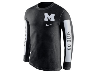 Michigan Wolverines Nike NCAA Men's Tri-Blend Boundry Long Sleeve T-Shirt