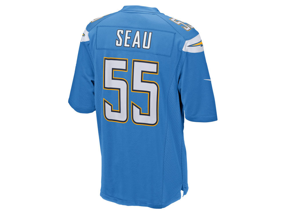 newest collection 06c98 b61aa San Diego Chargers Junior Seau Nike NFL Retired Game Jersey