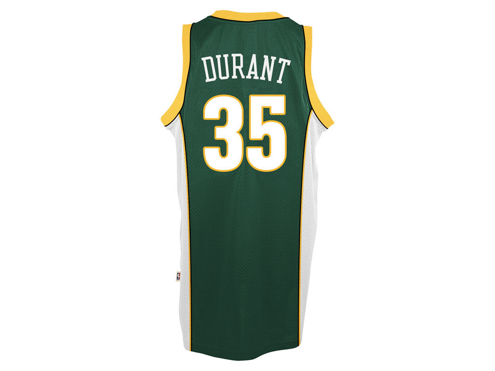 2348937a9 Seattle SuperSonics Kevin Durant adidas NBA HWC Men s Player Swingman Jersey