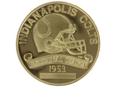 Indianapolis Colts NFL Schedule Coin