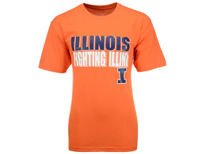 Illinois Fighting Illini 2 for $28 NCAA Men's Wordmark Stack T-Shirt