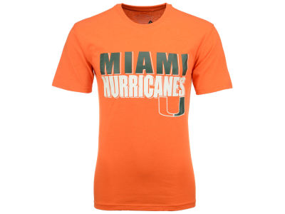 Miami Hurricanes NCAA 2 for $25 NCAA Men's Wordmark Stack T-Shirt