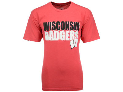 Wisconsin Badgers NCAA Men's Wordmark Stack T-Shirt