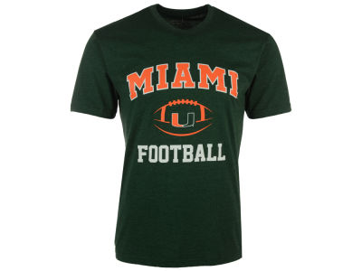 Miami Hurricanes NCAA Men's Football Arch Logo T-Shirt