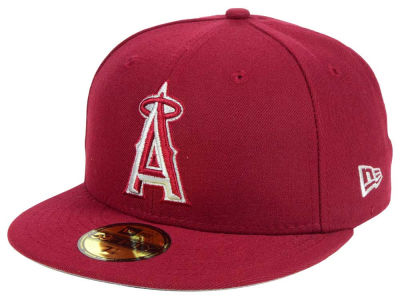 Los Angeles Angels New Era MLB Cardinal Gray 59FIFTY Cap