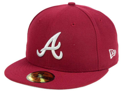 Atlanta Braves New Era MLB Cardinal Gray 59FIFTY Cap