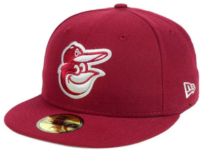 Baltimore Orioles New Era MLB Cardinal Gray 59FIFTY Cap