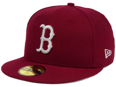 Boston Red Sox New Era MLB Cardinal Gray 59FIFTY Cap