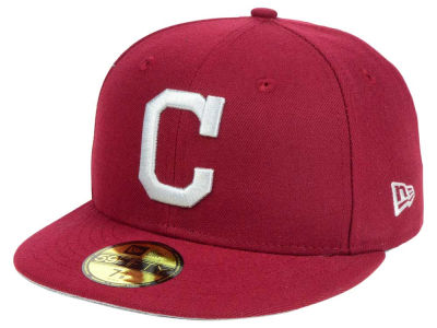 Cleveland Indians New Era MLB Cardinal Gray 59FIFTY Cap