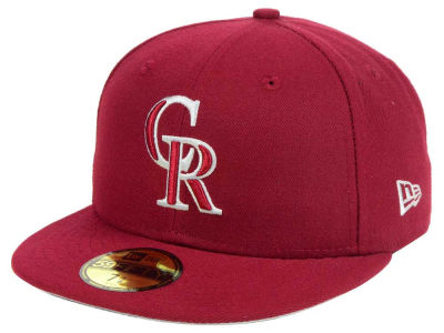 Colorado Rockies New Era MLB Cardinal Gray 59FIFTY Cap