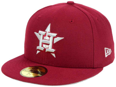 Houston Astros New Era MLB Cardinal Gray 59FIFTY Cap