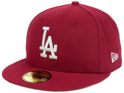 Los Angeles Dodgers New Era MLB Cardinal Gray 59FIFTY Cap