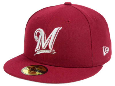 Milwaukee Brewers New Era MLB Cardnial Gray 59FIFTY Cap