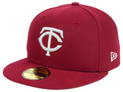 Minnesota Twins New Era MLB Cardinal Gray 59FIFTY Cap