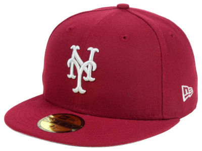 New York Mets New Era MLB Cardinal Gray 59FIFTY Cap