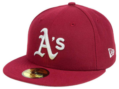 Oakland Athletics New Era MLB Cardinal Gray 59FIFTY Cap