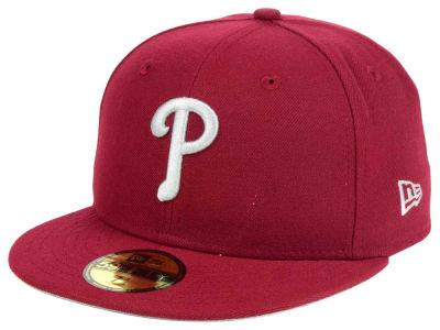 Philadelphia Phillies New Era MLB Cardinal Gray 59FIFTY Cap