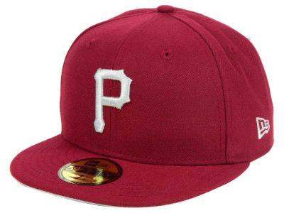 Pittsburgh Pirates New Era MLB Cardinal Gray 59FIFTY Cap