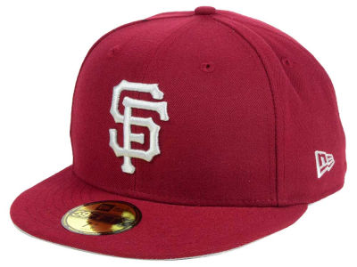 San Francisco Giants New Era MLB Cardinal Gray 59FIFTY Cap