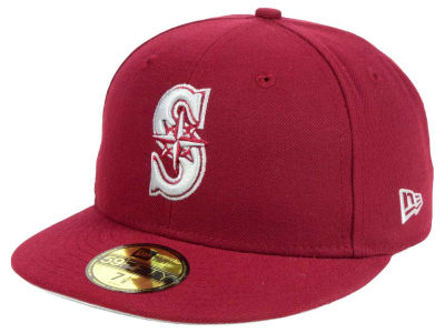 Seattle Mariners New Era MLB Cardinal Gray 59FIFTY Cap