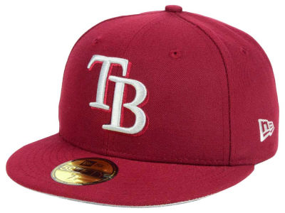 Tampa Bay Rays New Era MLB Cardinal Gray 59FIFTY Cap